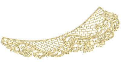 Embroidery Design: Lace from the Vault 9 Design 5 5.23w X 11.75h