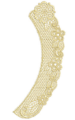 Embroidery Design: Lace from the Vault 10 Design 1 8.71w X 3.92h