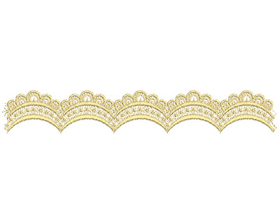 Embroidery Design: Lace from the Vault 10 Design 7 1.73w X 11.00h