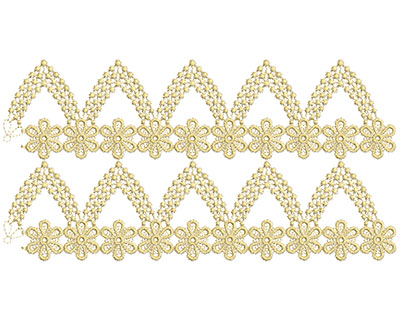 Embroidery Design: Lace from the Vault 10 Design 9 5.85w X 11.38h