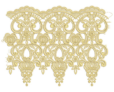 Embroidery Design: Lace from the Vault 11 Design 7 7.83w X 10.81h