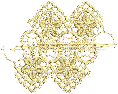 Embroidery Design: Lace from the Vault 11 Design 9 2.80w X 3.48h