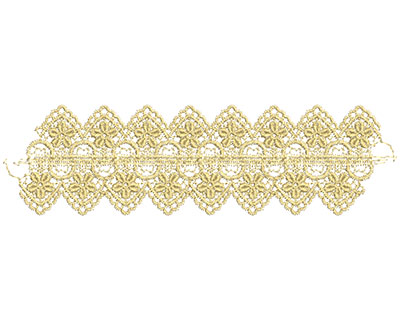 Embroidery Design: Lace from the Vault 11 Design 10 2.80w X 9.93h