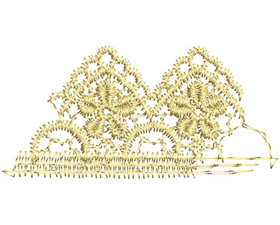 Embroidery Design: Lace from the Vault 11 Design 11 1.56w X 3.23h