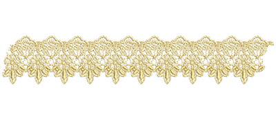 Embroidery Design: Lace from the Vault 12 Design 3 2.04w X 11.32h