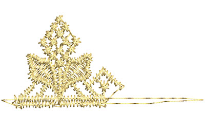 Embroidery Design: Lace from the Vault 12 Design 4 1.13w X 2.44h