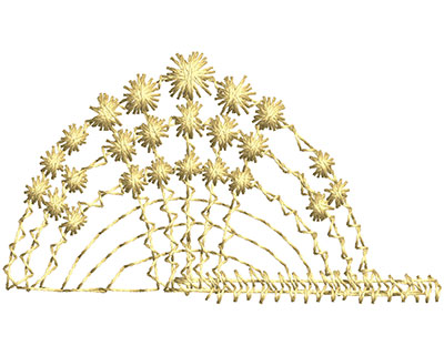 Embroidery Design: Lace from the Vault 12 Design 8 1.20w X 2.07h