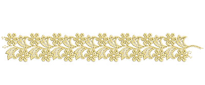 Embroidery Design: Lace from the Vault 13 Design 3 1.40w X 2.07h