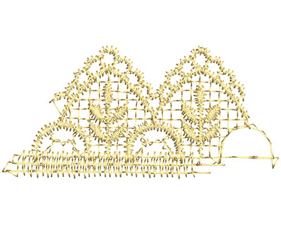 Embroidery Design: Lace from the Vault 13 Design 5 1.56w X 3.23h