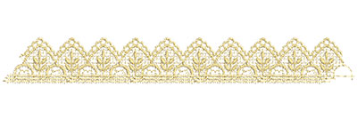 Embroidery Design: Lace from the Vault 13 Design 6 1.56w X 11.78h