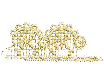 Embroidery Design: Lace from the Vault 13 Design 7 1.19w X 3.10h
