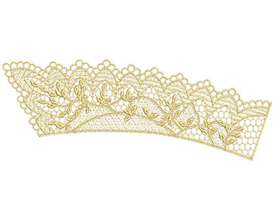 Embroidery Design: Lace from the Vault 13 Design 11 4.30w X 11.41h