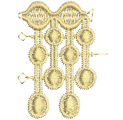 Embroidery Design: Lace from the Vault 14 Design 3 2.00w X 1.53h