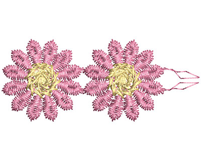 Embroidery Design: Lace from the Vault 14 Design 7 1.08w X 2.60h