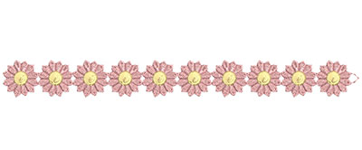 Embroidery Design: Lace from the Vault 14 Design 10 1.15w X 11h