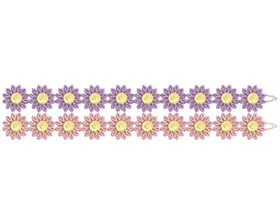 Embroidery Design: Lace from the Vault 15 Design 4 2.26w X 11.26h