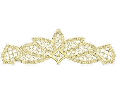 Embroidery Design: Lace from the Vault 15 Design 5 3.02w X 9.61h