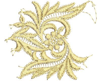 Embroidery Design: Lace from the Vault 15 Design 6 3.03w X 3.51h