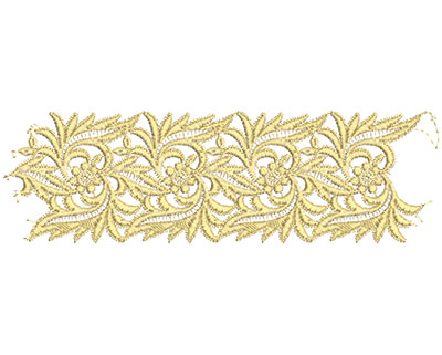 Embroidery Design: Lace from the Vault 15 Design 7 3.03w X 9.97h
