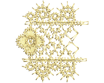 Embroidery Design: Lace from the Vault 15 Design 8 1.57w X 1.76h