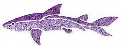 Embroidery Design: Shark large 6.95w X 2.48h