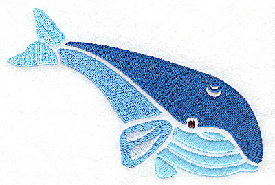 Embroidery Design: Whale large 4.96w X 3.38h