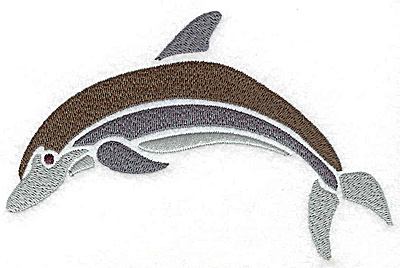 Embroidery Design: Dolphin large 5.59w X 3.68h
