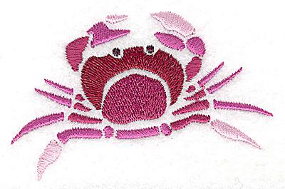 Embroidery Design: Crab small 3.43w X 2.16h