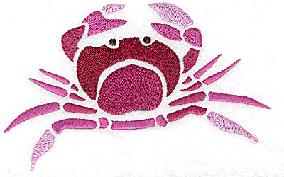 Embroidery Design: Crab large 5.88w X 3.65h