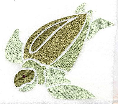 Embroidery Design: Sea Turtle large 4.93w X 4.35h