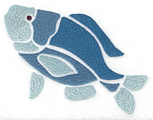 Embroidery Design: Fish large 4.94w X 3.71h