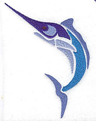 Embroidery Design: Swordfish large 3.46w X 4.95h