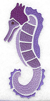 Embroidery Design: Seahorse large 2.12w X 4.96h