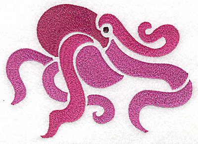 Embroidery Design: Octopus large 4.97w X 3.56h
