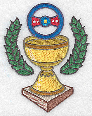 Embroidery Design: Championship trophy large 3.84w X 4.93h