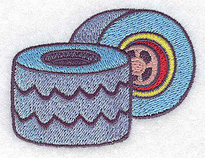 Embroidery Design: Racing tires small 2.93w X 2.22h