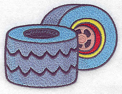 Embroidery Design: Racing tires large 3.86w X 2.93h