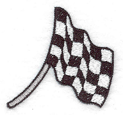 Embroidery Design: Racing flag small 2.27w X 2.17h