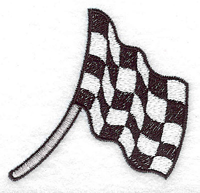 Embroidery Design: Racing flag large 3.17w X 3.03h