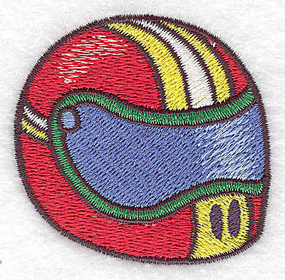 Embroidery Design: Racing helmet small 2.33w X 2.26h