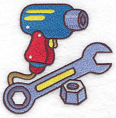 Embroidery Design: Racing tools small 3.58w X 3.58h