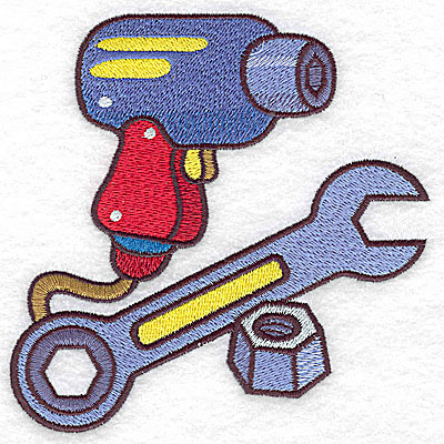 Embroidery Design: Racing tools large  4.90w X 4.89h