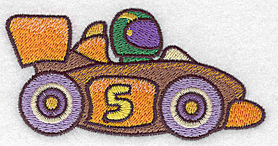 Embroidery Design: Racing car small 3.89w X 1.97h