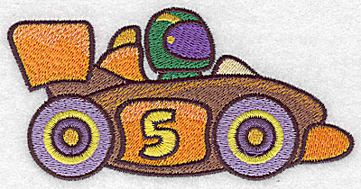 Embroidery Design: Racing car large 4.98w X 2.52h