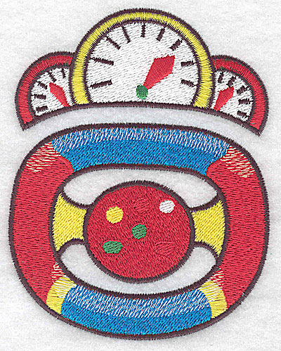 Embroidery Design: Racing car dashboard and steering wheel large 3.77w X 4.76h
