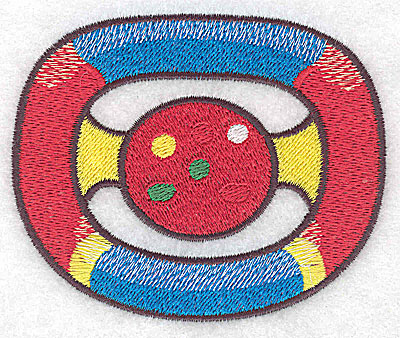 Embroidery Design: Racing car steering wheel large 3.77w X 3.11h