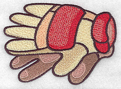 Embroidery Design: Racing gloves large 4.27w X 3.13h