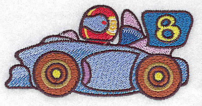 Embroidery Design: Racing car small 3.88w X 1.98h