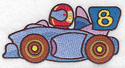 Embroidery Design: Racing car large 4.96w X 2.53h