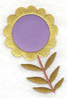 Embroidery Design: Flower 1 applique small 1.90w X 2.76h